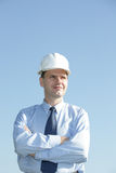 Engineer aganst blue sky Royalty Free Stock Photo