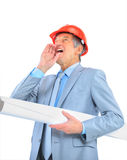 Engineer at the age of screams Stock Photos