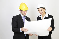 Free Engineer And Client On Site Stock Photo - 9671420
