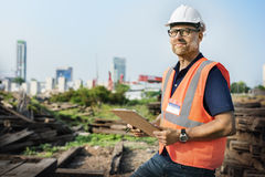 Engineer Architect Construction Site Planning Concept Royalty Free Stock Image