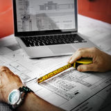 Engineer Architect Construction Site Planning Concept Stock Images