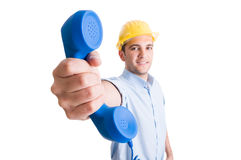Engineer or architect contact concept Stock Image