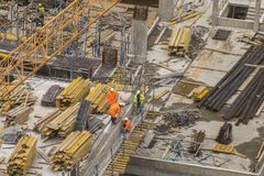 Business people on building site royalty free stock photos