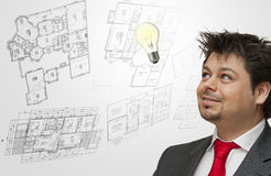 Engineer or Architect thinking Stock Images
