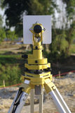 Engineer and architecture theodolite camera Stock Photography