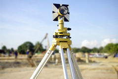 Engineer and architecture theodolite camera Royalty Free Stock Images