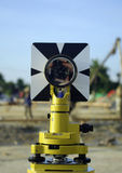 Engineer and architecture theodolite camera Royalty Free Stock Photography
