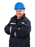 Engineer helmet portrait Royalty Free Stock Image