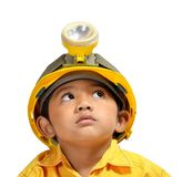 Engineer Boy. Cute and adorable young asian boy acting as an Engineer Royalty Free Stock Photos