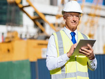 Engineer builder at construction site Stock Photography