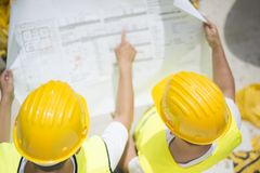 Engineer builders Stock Photos