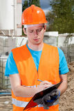 Engineer during building inspection Royalty Free Stock Photos
