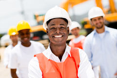 Engineer at a building site Stock Images