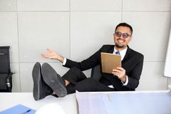 Engineer Business Group Meeting Discussion Strategy Working Concept,selective focus of Businessman stock photo
