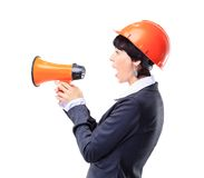 Engineer,business woman. Royalty Free Stock Images