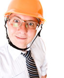 Engineer in cap Royalty Free Stock Photos