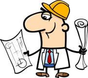 Engineer cartoon illustration Stock Photography