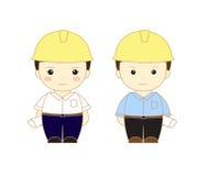 Engineer  cartoon. Engineer man girl cartoon Royalty Free Stock Image