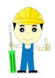Engineer. Cartoon man on white background Royalty Free Stock Image