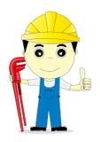 Engineer. Cartoon man on white background Royalty Free Stock Photos