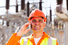 Engineer cell phone Stock Image
