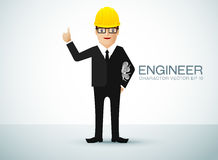 Engineer character Royalty Free Stock Images