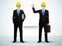 Engineer character Royalty Free Stock Photos