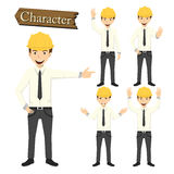 Engineer character set vector illustration Stock Photography