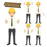 Engineer character set vector illustration Royalty Free Stock Photos