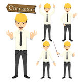 Engineer character set vector illustration Royalty Free Stock Photo