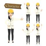 Engineer character set vector illustration Stock Image