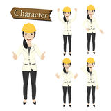 Engineer character set vector illustration Stock Photos
