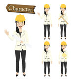 Engineer character set vector illustration Royalty Free Stock Images