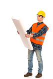 Engineer chcecking project. Stock Photos