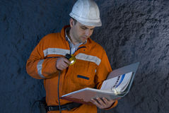 Engineer checking the plan Stock Photography