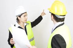 Engineer and client on site Stock Image