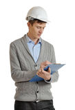Engineer with a clipboard Royalty Free Stock Photos