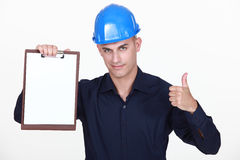 Engineer with a clipboard Stock Photos