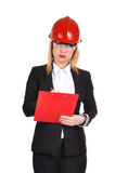 Engineer with clipboard Royalty Free Stock Photo