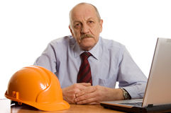 Engineer at the computer Royalty Free Stock Images