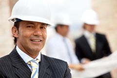 Engineer at a construction site Royalty Free Stock Images
