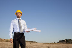 Engineer at the construction site Royalty Free Stock Images