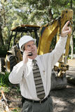 Engineer on Construction Site Royalty Free Stock Photo
