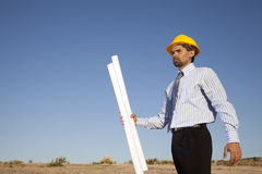 Engineer at the construction site Royalty Free Stock Photos