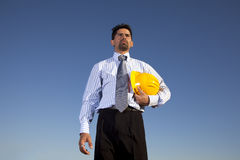 Engineer at the construction site Royalty Free Stock Photo