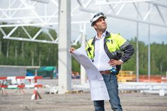 Engineer At Construction Site Royalty Free Stock Photo