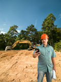 Engineer on construction site Royalty Free Stock Image