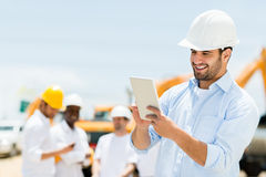 Engineer at a construction site Stock Image