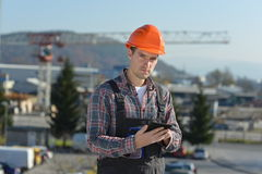 Engineer at construction site Stock Photography