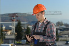 Engineer at construction site Royalty Free Stock Photos